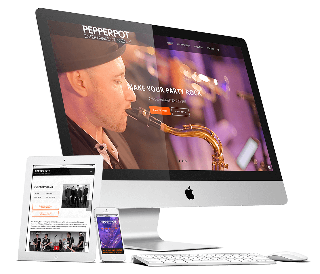 Pepperpot Entertainment website design by riffwave.com