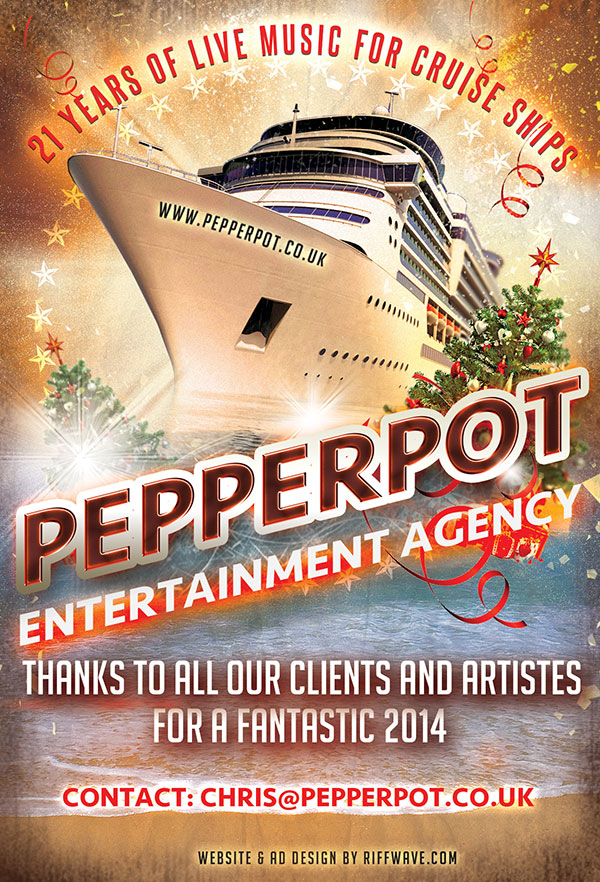 Pepperpot Entertainment flyer by riffwave.com
